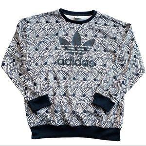 Adidas Boys Zebra Print Sweatshirt X-Large